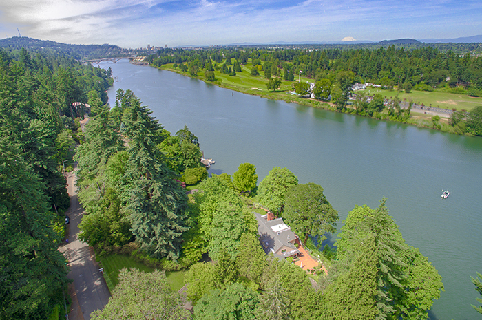 Willamette River Aerial View